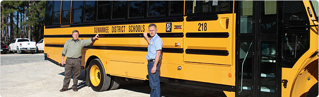 Suwannee School District embraced lease-purchase financing and now enjoy 20 new Thomas Built C2 buses in their fleet.